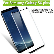 S8+ Black Tempered Glass Full Coverage Screen Protector Fit for Samsung Galaxy