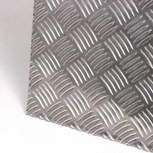 Alu Riffelblech Stärke 3,5/5,0 mm Quintett Warzenblech Zuschnitt nach Maß