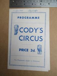 Cody's Circus  single sheet Program  1955   more image down listing