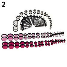 72pcs Ear Stretching Kit 14G-00G Tapers Tunnels Plugs Piercing Magic