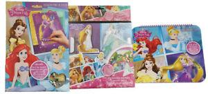 Set of 3 - Disney Princess Colouring Sticker Books Activity Placemat