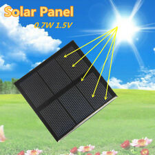 0.7W 1.5V Portable Solar Panel Power Cell Charger Monocrystalline Battery Home