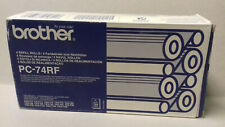More details for genuine brother pc-74rf 3 x fax refill rolls