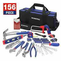 WORKPRO Home Repair Tool Kit with Compact Tool Bag, 156-Piece Household DIY Tool