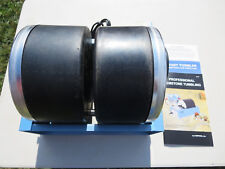 LORTONE QT66 TUMBLER WITH 2 EACH 6# DRUMS.  GREAT MACHINE MADE HERE IN USA. NEW