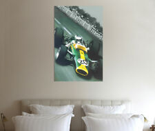 Jim Clark 30x20 Inch Canvas - Lotus 25 Framed Picture F1 Art Formula One
