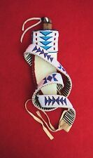 Beaded Belt with Knife and Matching Sheath