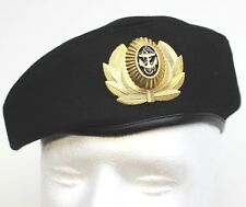 RUSSIAN SOVIET ARMY / NAVY OFFICERS STYLE BLACK BERET & BADGE