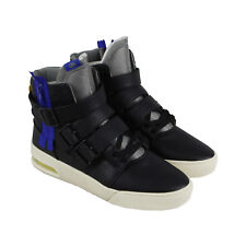 3b377582aa9e Radii Straight Jacket Plus Mens Black Leather High Top Sneakers Shoes