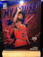 2019-20 Coby White Donruss Optic My House Purple Holo Prizm Rookie RC Bulls