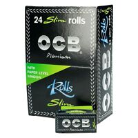 OCB PREMIUM SLIM BLACK ROLLS RIPS ULTRA THIN Cigarette Smoking Rolling Papers