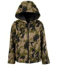 S Rothschild & Co Boys Hooded Camo-Print Faux - Wool Jacket