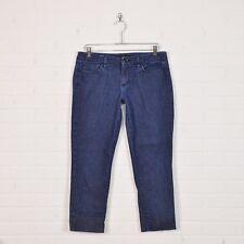 Joe's Farrow Wash Dark Stretch Denim Skinny Slim Leg Crop Capri Jeans Pants 32