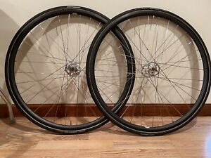 Campagnolo Pista Track  Wheel Wheelset  Tubular Sheriff Star Hubs Carbon Rims
