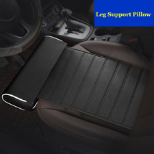 Car Seat Cushion Foot Support Pillow Leg Knee Pad Thigh Support Black PU Leather