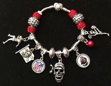 Tampa Bay Buccaneers Inspired Charm Bracelet-Go Bucs!