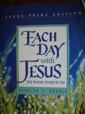 Each Day with Jesus: Daily Devotions Through the Year LARGE Print FREE ship SC