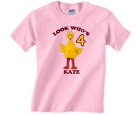 Personalized Custom Sesame Street Big Bird Birthday Shirt Gift