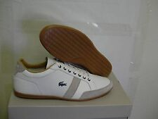 Lacoste shoes alisos 17 spm off white leather/suede size 10 us