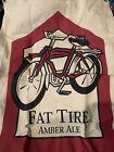 "New Belgium Fat Tire Amber Ale Banner Unique Poster Fabric 58""x20"""