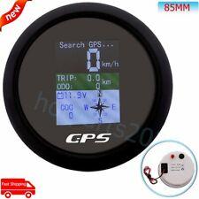 85mm TFT Screen Digital GPS Speedometer Odometer Trip COG Guage Waterproof Boat
