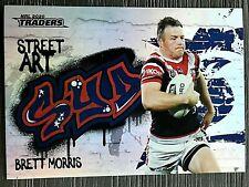 2020 NRL TRADERS 'STREET ART' TRADING CARD - BRETT MORRIS/ROOSTERS