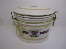 Ceramic Canister Knott's Berry Farm Foods Attached Lid Cookie Jar