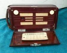 "AWA RADIOLA 450-P "" Personal Portable "" AM Tube Radio Australia Bakelite Battery"