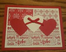 Stampin up card making kit - Sending Love - Red / White Hearts with a bow