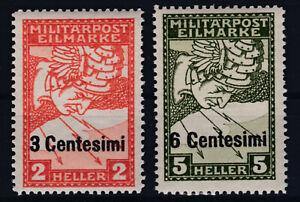 1918 Feldpost Ausgabe Italien ANK 24 + 25 Postfrisch ** MNH € 150,--