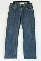 Levi's 505 Men Size 30x30 Blue Dark Wash Straight Leg Denim Jeans