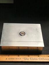 US STEEL  MONOGRAMED  CIGARETTE BOX STAINLESS