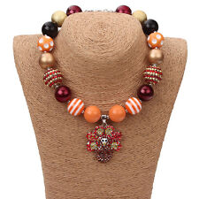 New Gumball Bead Necklace Thanksgiving Turkey Pendant for Little Kid X-mas Gift