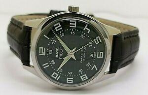 genuine hmt pilot men mechanical hand winding green dial steel watch run order