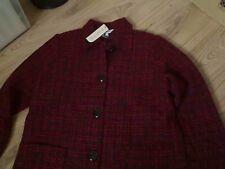 Entièrement neuf jamais porté Penny Plain tweed rouge et noir bouncle Doublé Veste Taille 12 avec laine
