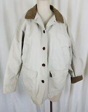 LL Bean Canvas Quilted Insulated Adirondak Barn Jacket Work Coat Womens PL Bone