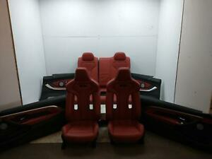 BMW 4 SERIES RED LEATHER INTERIOR TRIM SEATS M4 COMPETITION 2 Door Coupe 17-20