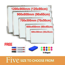 More details for magnetic whiteboard large small white board dry wipe notice office home school