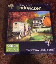 Karmin 550 Piece Puzzle Linda Picken Called Rainbow Dairy Farm