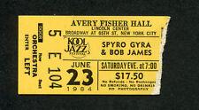 Original 1984 Spyro Gyra Bob James concert ticket stub Lincoln Center Ny Jazz
