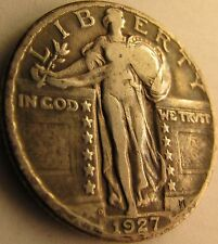 1927-D VF Standing Liberty Quarter in SAFLIP® - Free Shipping