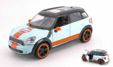 Mini cooper s countryman gulf light blue orange 1:24 auto stradali scala