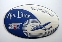 Vintage Air Liban Middle East Airlines of Lebanon Luggage / Baggage Label
