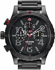 Nixon Original 48-20 Chrono A486-1320 All Black/Mult Stainless Steel 48mm Watch