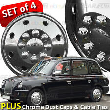 "16"" Chrome London Taxi Black Cab LTI TX1 TX2 TX4 Wheel Trims Hub Covers Caps +"
