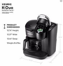 Keurig K-Duo Essentials Single and 12 Cup Coffee Maker - Black