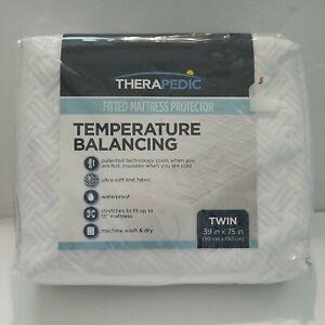 Therapedic Temperature Balancing Fitted Mattress Protector Twin