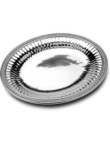 Wilton Armetale Flutes and Pearls Oval Serving Platter