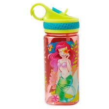 NEW Disney Store Ariel Water Bottle w/ Straw 16oz The Little Mermaid Princess