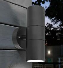 Modern Black Double Up Down Outdoor Stainless Steel Wall Light Matte Coated